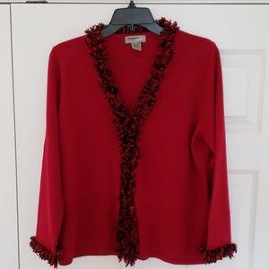 Super cute red and black sweater